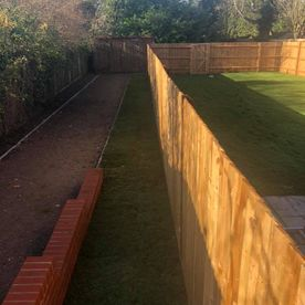 A large garden fence