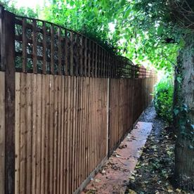 A garden fence installed by our team