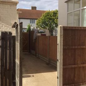 Fencing work that we have been working on