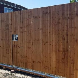 A tall fence project we have worked on