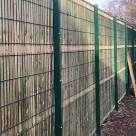 A site fence that we have installed