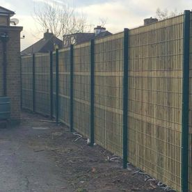 A large fence install