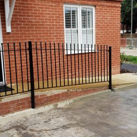 a small metal fence that we have installed